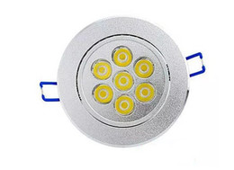 Wholesale Spots Led Ceiling Dimmable 7w - 7x1W LED Ceiling Spot Light Lampe Flush Mount 7W Dimmable 110V 220V for Supermarket Bathroom Indoor Lampada Decoration Warm white CE FCC LLF