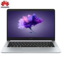 Wholesale Huawei Honor 2gb - 2018 HUAWEI honor MagicBook 14 inch Windows 10 Notebook 8th-Gen i5-8250U i7-8550U GeForce MX150 2GB GDDR5 8GB 256GB Laptop PC