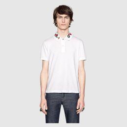 T-shirts rayés pour filles en Ligne-nouvelle mode hommes marque polo t-shirt broderie col serpent t-shirt classique t-shirt à manches courtes t-shirt G rayé amoureux filles hommes Top Tee