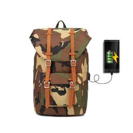 bolsas de lona para homem Desconto Mochila de Lona Mochila Daypack das Mulheres Dos Homens USB Computador Portátil Sacos para Camuflagem de Viagem Unisex Casual Design