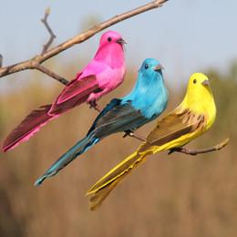 2019 окрашенные гусиные перья Высокое качество пены перо птица декоративные птицы с Когтем для дома декоративные пернатые птицы для ремесел 12 шт./лот G605S