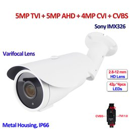 Wholesale Varifocal Cameras - 4 in 1 5MP 4MP TVI AHD Security cameras IMX326 sensor Night Vision 4MP CVI CCTV camera outdoor, DNR , OSD, Varifocal Lens, 960H