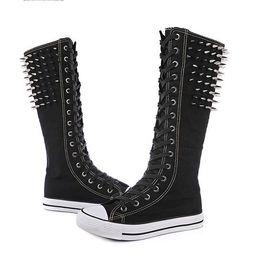 02e1484fc42 2019 botas de tallas grandes Moda remache de arranque porristas zapatos de  baile zapatos de mujer