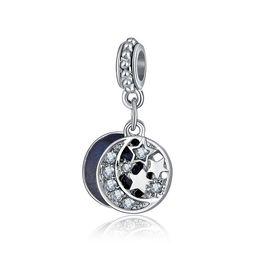 mondcharme armband Rabatt Passt Pandora Armbänder 10 stücke Mond Sterne Charms Baumeln Anhänger Perlen Silber Charms Bead Für Großhandel Diy Europäischen Halskette Schmuck machen