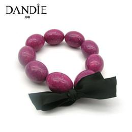 Canada Dandie Tendance Violet Perles Acryliques Black Bow Bangle, Pour les vêtements quotidiens d'une femme cheap acrylic bow beads Offre