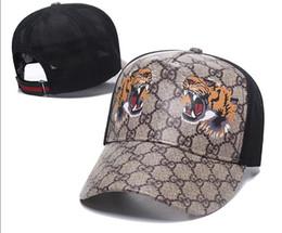 porzellan weiße kappe Rabatt Schlange-Kappen-Tiger-Hysteresen-Baseballmütze-Freizeit-Luxusleder Hüte Biene-Hysteresenhüte im Freien Golfsporthut für Mannfrauen casquette