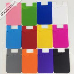 telefones celulares importados Desconto Slot para cartão do telefone de volta do silicone universal adesivo colorido carteira titular do cartão caso para samsung note 9 s9 além de iphone x opp