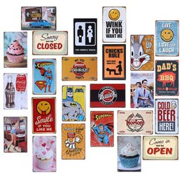 Wholesale routed signs - Metal Painting Champion Shell Motor Oil Garage Route 66 Retro Vintage TIN SIGN Old Wall Metal Painting ART Bar, Pub, restaurant home Decorat