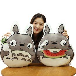 Wholesale japan gift toy - 50CM Japan Anime Totoro Plush Pillows Stuffed Soft Cartoon Animal Toys Dolls for Kids Baby Cute Brirthday Gift Doll Cushion LA092