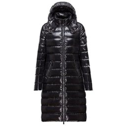 Wholesale Women Clothes Black Long Skirt - 17FW Mo Brand Clear Down Jacket Women Long Cotton Jacket Fashion Women Warm Coat High Quality Down Clothes Dress HFWPYRF025