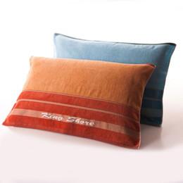 Almohadas grandes y blandas online-Al por mayor-100% almohada de algodón toalla Corte la pila más destrenzado haciendo toalla grande Suave y cómodo Buena imbibición de agua