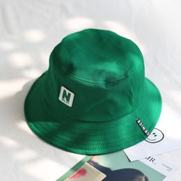 2018 verde Cubo Sombrero Pescador Sombreros Hombres Mujeres Exterior Calle de verano Hip Hop Bailarín Algodón Ciudad de Panamá Sombrero desde fabricantes