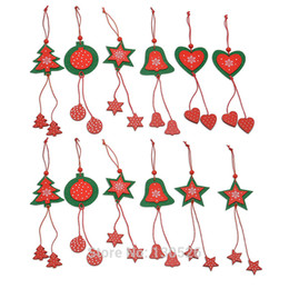 Wholesale home decorating ornaments - Christmas Tree Decorating Tools Home Star Heart Ornament Christmas Decorations for Home and Trees Event Party Supplies 12pc