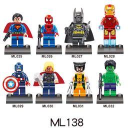 Wholesale hero brand - Hot M brand multi style Super Hero series puzzle building blocks bricks Minifig series toy Minifig building toys