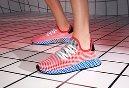 Wholesale Best Women Style - New Top Fashion Best Quality Originals Deerupt Runner Women Mens black red white Running Shoes Sports Sneakers CQ2624 New Style Wholesale