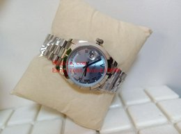relógios mecânicos unisex azuis Desconto Venda quente Relógios de Moda Unissex 36mm 118346 218206 Dia Data Presidente Ice blue Roman Dial Ásia 2813 Relógio Mecânico Automático Unisex W