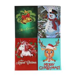 Mão que faz cartões on-line-Envelope de cartão de natal diy 5d pintura diamante presente feito à mão festival de natal strass colado bordado cartão de pintura # m