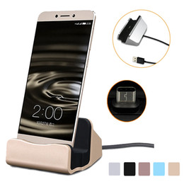Wholesale Dock Station Android - Mobile Phone Charging Dock Station Desktop Docking Charger Sync Dock For Samsung S6 S7 edge Note 5 Type C Android With Retail Box