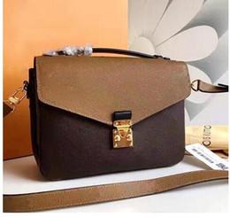 Wholesale hot joker - HOT fashion women Genuine leather Pochette Metis bag messenger bags women print leisure joker shoulder handbag bag
