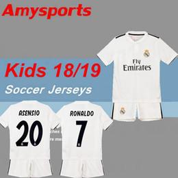 Wholesale real jersey child - 2018 2019 Kids kit Real madrid Soccer Jersey 17 18 19 youth boy Child Ronaldo Modric Kroos Sergio Ramos Bale Home away ASENSIO ISCO Jersey