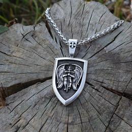 Lanseis 1 adet erkekler kolye kanat Archangel St.Michael ABD Saint Kalkan Koruma kolye Dini muska takı Korumak nereden moda boncuk takı setleri tedarikçiler