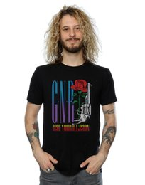 Novas armas usadas on-line-Guns N Roses Men Use Sua Ilusão Pistol T-Shirt 2018 verão novos homens de algodão de Manga Curta T-shirt Da Marca tops Moda