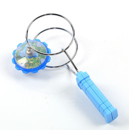 Wholesale Toy Led Gyroscope - New Magic LED gyroscope flash toys stall selling magnetic spinning top track yo-yo good toy for kids