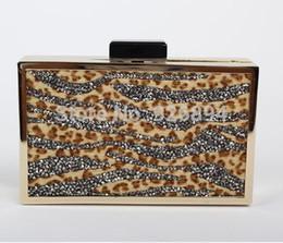 Wholesale Horse Hair Leopard - Luxury high quality rhinestones leopard horse hair wavy party purse handbags clutch evening bag messenger bag shoulder