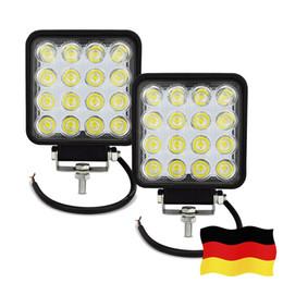 Wholesale led utv lights - LED Work Light 12V 48Wx2 LED Light Bar Offroad Spot Lamp IP67 Fog Light for Truck Boat Jeep SUV ATV UTV (DE STOCK)