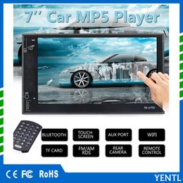 Wholesale car stereo tv screen - Free shipping YENTL 2 Din Car Video Player Car DVD 7 inch Bluetooth FM Radio MP5 Player
