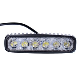 Wholesale Trailer Work Lights - SUV Car Flood Head 18W LEDs Work Bar Lights Lamp Running Lights For Motorcycle Driving Truck Trailer Working OffRoad Light