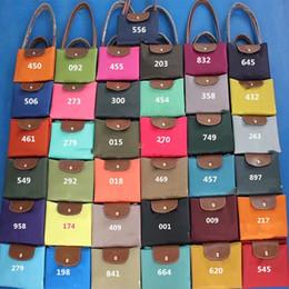 2019 borse coreane Nuova moda colore femminile coreano nuova borsa a tracolla in nylon Oxford per il tempo libero tendenza con manico in pelle 37 colori scegliere borse coreane economici