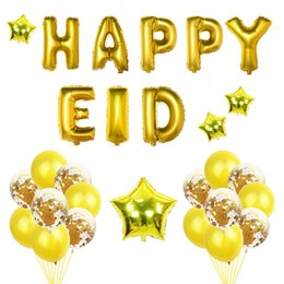 12 pulgadas feliz eid kit de globo de aluminio confeti globo transparente musulmán Ramadán suministros EID decoración de vacaciones desde fabricantes