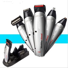 Wholesale Hair Remover Kit - 5 in 1 electric grooming kit beard trimmer nose hair cutter lettering cut beard shaver hair styling clipper all in one body hair remover