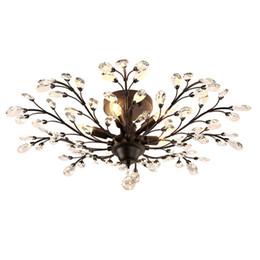 Lámparas de araña de luces de cristal de la vendimia lámparas americanas iluminación luces de techo para sala de estar sala de restaurante restaurante bar de hotel desde fabricantes