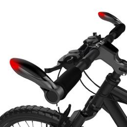 Wholesale Bicycle Bar Grips - 1Pair Bicycle Aluminum Handlebar Bar Ends Turning Light Cycling MTB Bike Handle Bar Grip With Warning Signal Lights Hot Sales