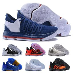 Wholesale cheap kd sneakers - Cheap Kd 10 Basketball Shoes Mens White Kevin Durant 10s X Pure Platinum BHM Oreo Triple Lmtd City Series Features Men Shoe Sneakers