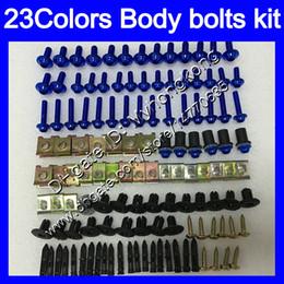 Wholesale Suzuki Gsxr K7 - Fairing bolts full screw kit For SUZUKI GSXR1000 05 06 07 08 GSXR 1000 GSX R1000 K5 K7 2006 2007 2008 Body Nuts screws nut bolt kit 23Colors
