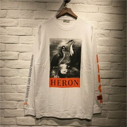 Couronne tshirt en Ligne-T-shirt de haute qualité Heron Preston T-shirt Hip Hop à couronne rouge T-shirt à manches longues Heron Preston T-shirt Broderie Heron Preston