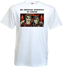 Wholesale poster printing london - An American Werewolf In London v.7 T shirt white movie poster all sizes S-5XL