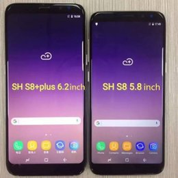 Wholesale Ram English - Goophone X S8 plus Note 8 unlocked phone quad core 1G ram 4G rom 6.2inch full Screen Show 128GB fake 4g lte Android Smartphone Cell Phones