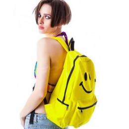 Wholesale Student Swimming - Unisex Canvas Emoji School Bag Smiley Backpack Smiling Face Day Pack Shoulder Schoolbag Student Bags CCA9256 30pcs