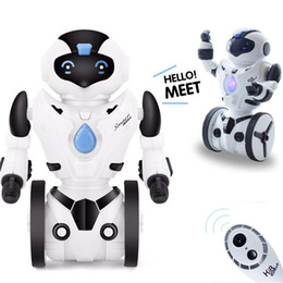 Wholesale Remote Controlled Robot For Kids - RC Robot Cute Remote Control Intelligent Robot For Children Kids Gift electric smart dog electronic interactive toys pets