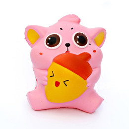Wholesale Fat Strap - Cute Pink Fat Animal Squishy Slow Rising Soft Phone Straps Accessories Scented Cake Kid Toy Fun Christmas Kids Gift P15