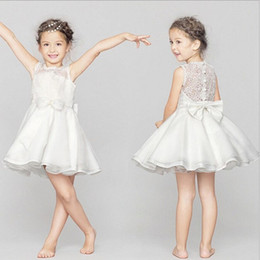 Wholesale Graduation Bow Ties - Girl flower child performance dress wedding dress bow tie and Pengpeng princess skirt