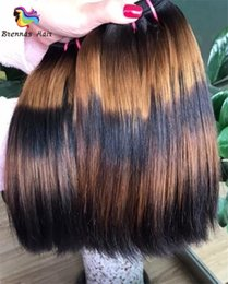 Wholesale Human Hair Bundle Packs - Fummi straight hair extension PIANO COLOR double drawn fummi hair bundles 3pcs pack human hair bundles double drawn