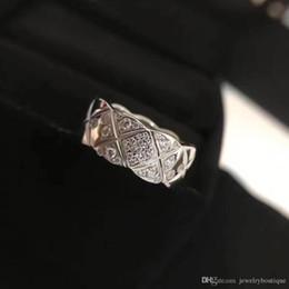 S925 pur argent Top qualité bague de conception de paris avec diamant et forme de losange décorer timbre logo écraser charme femmes mariage bijoux cadeau en ? partir de fabricateur