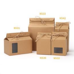 2019 пакеты для дня рождения Мешок kraft картона чая упаковывая бумажный,Ясная коробка окна для хранения еды печенья торта стоя вверх бумажный мешок LX0094 упаковки дешево пакеты для дня рождения