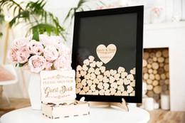 impronta digitale della pittura di nozze Sconti Nomi personalizzati Libro degli ospiti di nozze, Drop top personalizzato Drop box di nozze GuestBook alternativo con cuori, Rustic Wedding Gifts