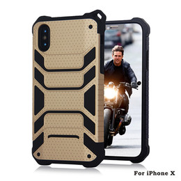 Wholesale apple rugged protection - Rugged Hybrid Case 2 in 1 Dual Layer Protection Defender Cases Cover For iPhone X 8 7 6 6S Plus 5 5S